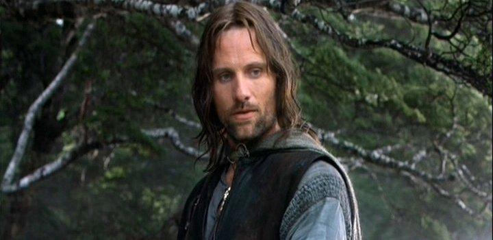 sad Aragorn after Boromir's death